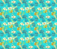 warm_wildflower fabric by holli_zollinger on Spoonflower - custom fabric