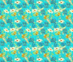 warm_wildflower fabric by holli_zollinger on Spoonflower - custom fabric