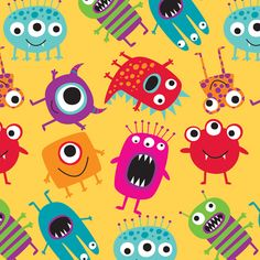 Wrap up the perfect gift for your little monster in Monster Madness gift wrap from The Gift Wrap Company!