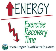 MSM Organic Sulfur can increase #energy and #recovery from #exercise: www.OrganicSulfurHelps.com