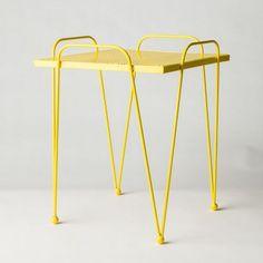 Retro Mesh Table - Yellow