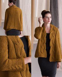 Amy Gunderson - super bulky swing coat