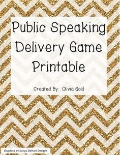 Perfect relaxed and funny game for students who get nervous in front of the class. This activity really breaks the ice, and I had students who begged to play this public speaking game again!