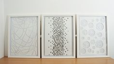 Set of three. Framed Artwork, Wall Art, Cut Work, Signature Collection, Surface Pattern Design, Paper Cutting, Color Patterns, Artworks, Inspiration