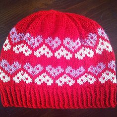 "Ravelry: ""Not your Valentine"" hat pattern by Giulia Pezzi"