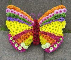 Butterfly funeral tribute  www.hubbardsfloristcoventry.co.uk