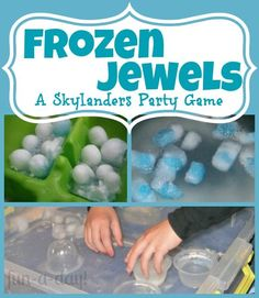 Frozen Jewels {A Skylanders Party Game} -- very fun, incredibly engaging, sensory play party game for young Skylanders fans!