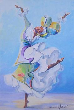 Danseuse Rio (Painting) by Janick Lederle Peinture à l'huile