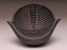 Rocking Pod Bowl (2004)  by Michael Lee & Hans Weissflog  Ziricote wood