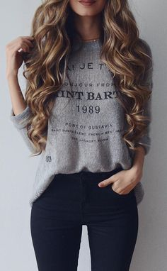 Casual outfit wearing sweater with jeans