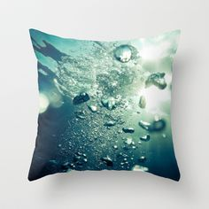 IN THE WATER Throw Pillow by Kevin Spagnolo - $20.00