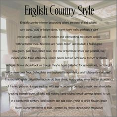 historic english country style dining rooms | Happy To Design: Passion for Patterns...English Country Style