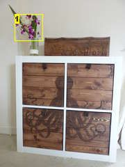 Octo dresser - dressed up boxes inserted into an Expedit unit