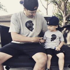 20 Dads from All Over the Globe Matching Outfits with Their Son for #FathersDay | See more at www.treehut.co