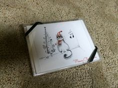 Cat Christmas - pen and ink notecards.  MEOWY CHRISTMAS!