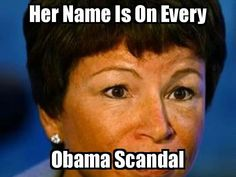 Valerie Jarrett. She reminds me of that crazy Indian woman from the religious cult in Oregon that took over a town's local politics and poisoned the residents that wouldn't vote for her with E. coli. Yeah. That happened.