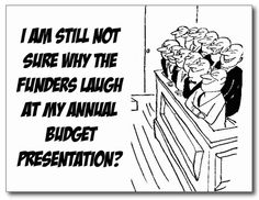 Budget Presentation Postcard. Classic Museum Humor! Send on to a colleague or friend today! http://www.zazzle.com/budget_presentation_postcard-239391472952149379 #museum #postcard #budget #humor #humour