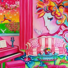 Interior Oil Painting - Peter's Parlor by k Madison Moore, painting by artist k. Madison Moore
