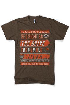 """I Survived.The Browns"" t-shirt Oregon Ducks Football, Ohio State Football, Oklahoma Sooners, American Football, College Football, Football Team, Football Season, Cleveland Browns Football, Cleveland Ohio"