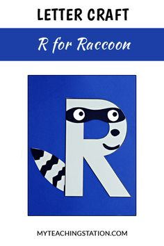 Letter R Craft: Raccoon Letter of the week craft activity: Letter R is for Raccoon. Simple and easy letter craft for children in or Preschool Letter Crafts, Alphabet Letter Crafts, Abc Crafts, Preschool Projects, Alphabet Book, Art Projects, Animal Alphabet, Letter Art, Animal Letters