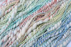 Excited to share the latest addition to my #etsy shop: Handspun Art Yarn - SUPERNOVA - What would you make?  I can see this as a woven textured scarf!  http://etsy.me/2njTaqP #handspun #weaving #rainbows #artyarn
