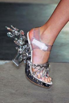 Prada Acrylic and Crystal Sandals, S/S 2010