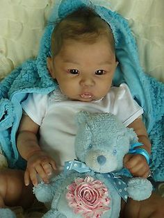 Reborn Ethnic baby doll girl Eleanor by Laura Tuzio Ross, so lovely!! No reserve. OMG!!! Beautiful Reborn!!!