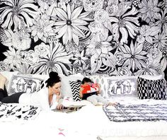 Ideas for a Sunday?  Color and wallpaper your room!