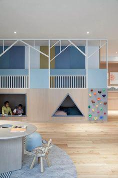 Low Budget Home Decoration Ideas Kindergarten Interior, Kindergarten Design, Daycare Design, Playroom Design, School Design, Kids Play Spaces, Learning Spaces, Kids Cafe, Creative Kids Rooms