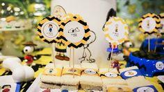 decoracion fiesta infantil carlitos y snoopy merienda