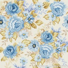 "Cross stitch pattern ""Pillow - Blue roses"" by TatyanaStitch on Etsy https://www.etsy.com/listing/184610996/cross-stitch-pattern-pillow-blue-roses"