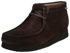 Clarks Stinson Hi Mens 26107660-CHOCOLATE Brown Wallabee Boots Shoes Size 10.5