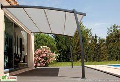 Pergola With Retractable Canopy Patio Canopy, Canopy Outdoor, Outdoor Pergola, Pergola Plans, Diy Pergola, Pergola Kits, Outdoor Rooms, Pergola Ideas, Car Porch Design