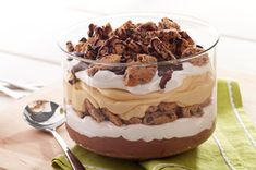 Peanut Butter-Chocolate Trifle..had my sister make this, and wow! it was so good! instead of cookies she used brownies cut up into small pieces, and added some reese's PB cups too.