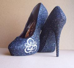 Coheed and Cambria High Heels. $120.00, via Etsy. If I really wanted these heels, I could make these though.