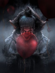 Pennywise from It movie It Pennywise, Pennywise The Dancing Clown, Pennywise Poster, Pennywise Tattoo, Clown Horror, Arte Horror, Scary Movie Characters, Scary Movies, Bill Skarsgard Pennywise
