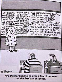 Farside Classroom rules