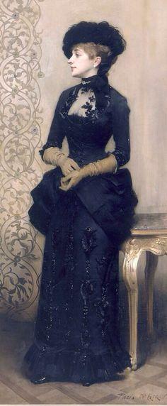"""La Parisienne"" 1883 Charles Alexandre Giron"