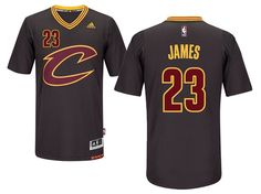 ae367496888 NBA Cleveland Cavaliers  23 LeBron James Black Sleeved Swingman Jersey
