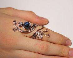 anello anello avvolto rame filo avvolto gioielli di BeyhanAkman