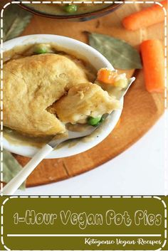 Easy, vegan pot pies loaded with veggies and topped with flaky, from-scratch vegan biscuits! Baker Recipes, Dessert Recipes, Cooking Recipes, Drink Recipes, Trifle Desserts, Cooking Tips, Healthy Dinner Recipes, Vegetarian Recipes, Vegetarian Protein