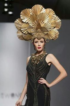 Sue Wong 2014 Headdresses to die for!