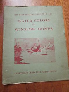 Water Colors by Winslow Homer A Portfolio of by VestraVintageVita, $45.00