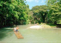 Rafting on the Martha Brae River, Falmouth, Jamaica