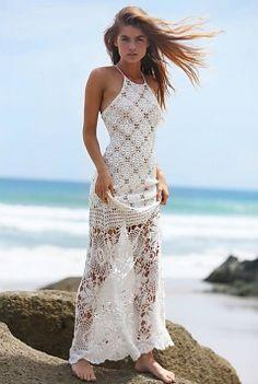 Miss June Crochet Dress Monaco - Ivory