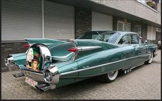 1959 Cadillac Coupe, who could ever forget that car. I never saw one outfitted with a continental kit. This car must be over 20 feet long. 1959 Cadillac, 1957 Chevrolet, Chevrolet Trucks, Chevrolet Impala, Bmw Autos, Auto Retro, American Classic Cars, Bmw I8, Weird Cars