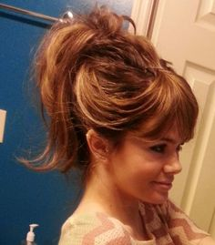 Fake Bangs Hairstyle Prepossessing This Fake Bang Topknot Is Super Easy To Create Especially With The