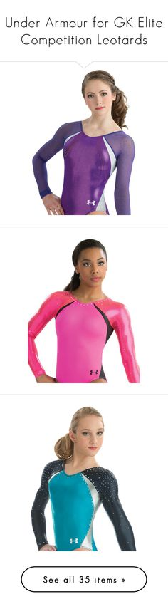 """""""Under Armour for GK Elite Competition Leotards"""" by gymholic ❤ liked on Polyvore featuring gymnast, leotard and gymnastics"""