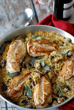 Baked Chicken and Orzo from Lemons for Lulu