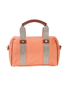 BORBONESE . #borbonese #bags #leather #hand bags #polyester #satchel #